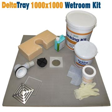 Picture of 1000x1000 DeltaTray Wetroom Kit