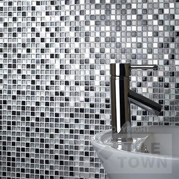 Picture of G30074 Stardust Glass Metal Mosaic