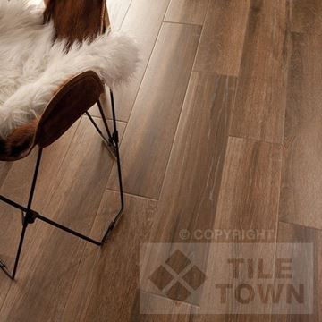 Darwin Moka Porcelain Floor tile - Reproduction of real wood