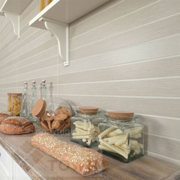Picture of Lineas Soho Arena Ceramic wall tile within a  Kitchen setting.