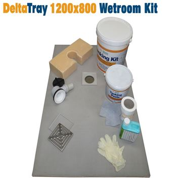 Picture of 1200x800 DeltaTray Wetroom Kit