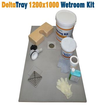 Picture of 1200x1000 DeltaTray Wetroom Kit