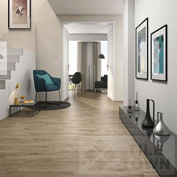 Darwin oak Porcelain Floor tile - Reproduction of real wood.