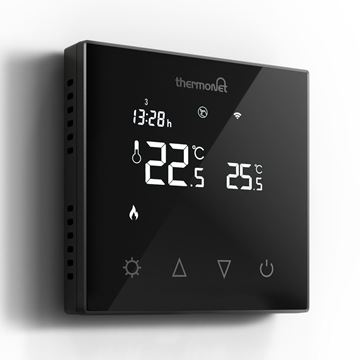Picture of 5226 Black Programmable Glass Thermostat