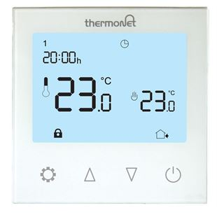 Picture of 5220 White Programmable Glass Thermostat
