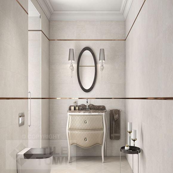 Bay marfil range within a bathroom setting