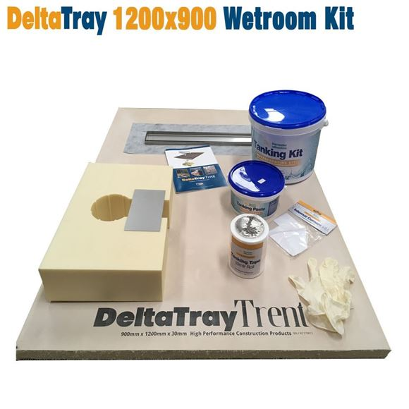 Picture of 1200x900 DeltaTray Trent Linear Wetroom Kit