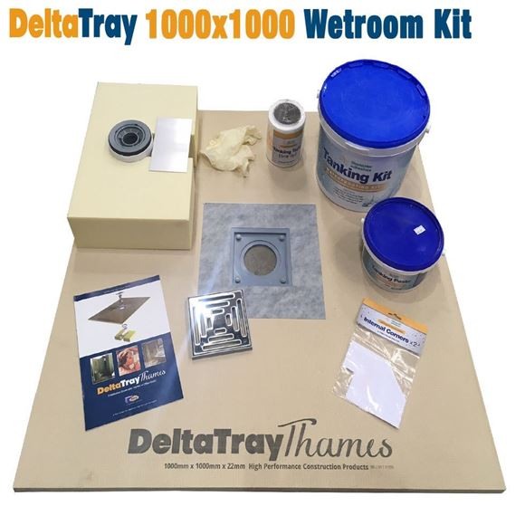 Picture of 1000x1000 DeltaTray Thames Wetroom Kit