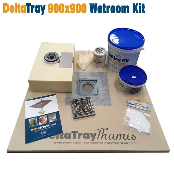 Picture of 900x900 DeltaTray Thames Wetroom Kit