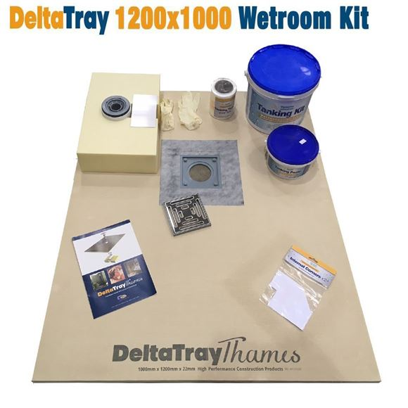 Picture of 1000x1200 DeltaTray Thames Wetroom Kit