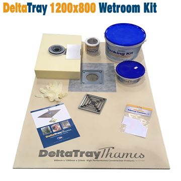 Picture of 800x1200 DeltaTray Thames Wetroom Kit