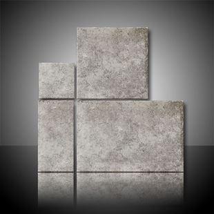 Individual tiles of the borgogna mix sizes