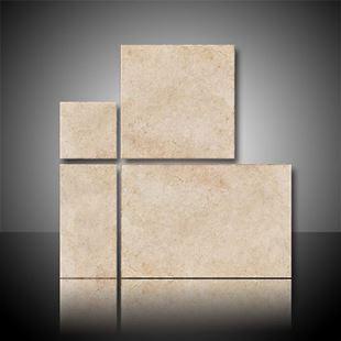 Individual tiles of the borgogna mix sizes.