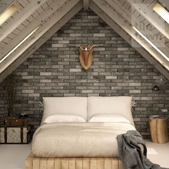 room setting of butterley quarter brick tile