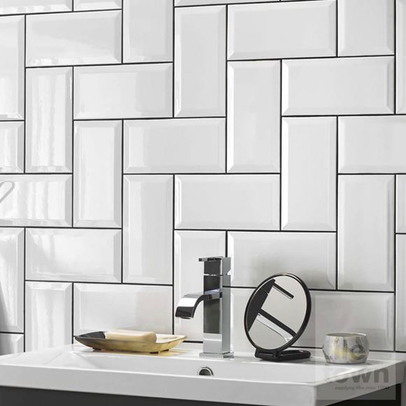 Metro White Bathroom Wall Tile