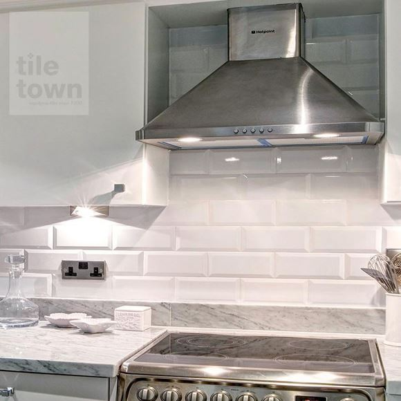 Quarndon White Kitchen Wall Tile