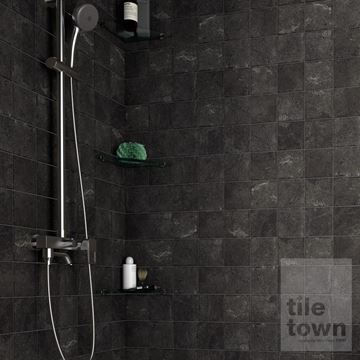 Alpstone Graphene wall tile bathroom setting.