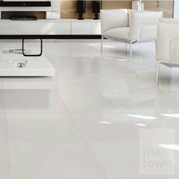 Alaska White Large porcelain floor tile