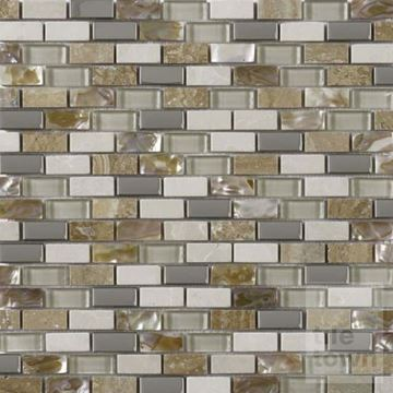 Picture of G30086 Cream Pearl Mix Mosaic