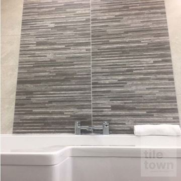 brix grey cermanic wall tile display