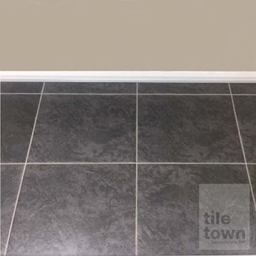 Almansa black floor tile