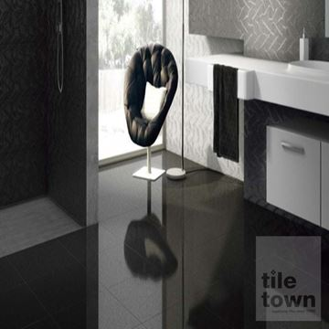 Smart lux black semi polished floor tile