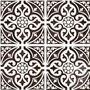 single tile kedleston black victorian style floor