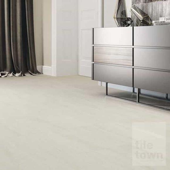 Prospect ivory porcelain floor tile, room setting.