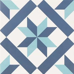 Picture of Base Star Blue Porcelain Tile