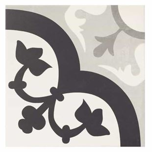 Picture of Base Flower Grey Porcelain Tile
