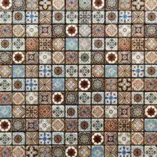 Picture of Vintage Blue Gold Mosaic